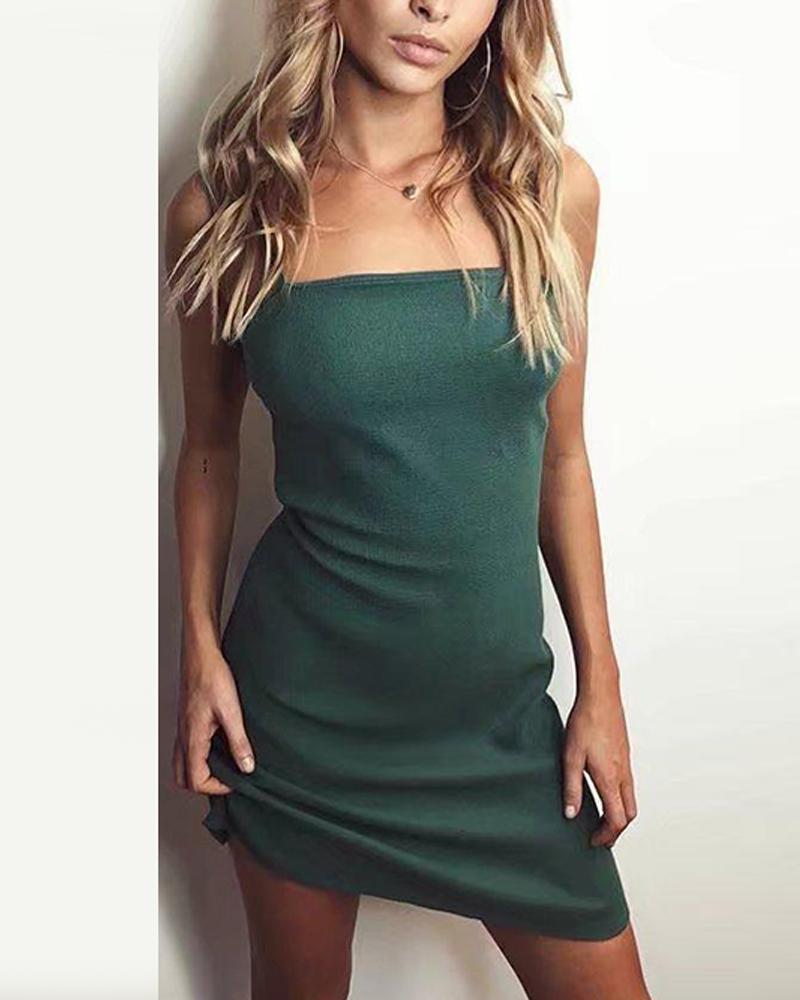 Tie Back Bodycon Mini Dress
