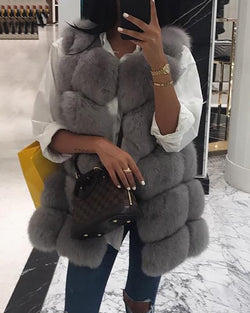 Warm Sleeveless Fluffy Vest Coat