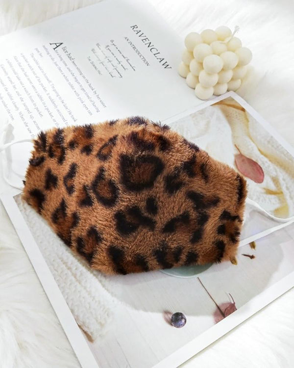 Cheetah / Tiger / Zebra Stripe Print Fluffy Breathable Face Mask