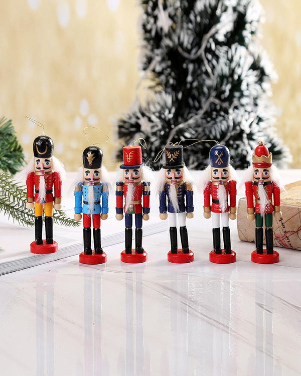 Christmas Decorations Nutcracker Wooden Soldier Puppets