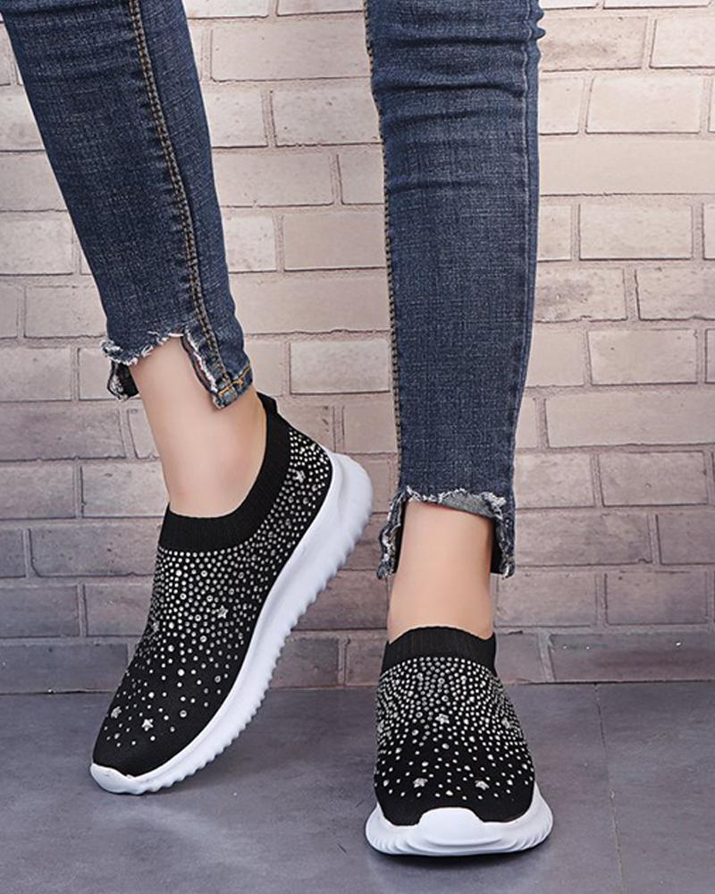 Studded Slip-On Casual Sneakers