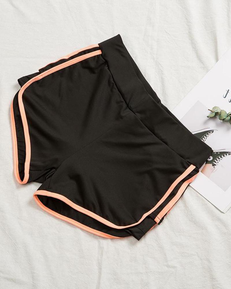 Side Striped Yoga Shorts