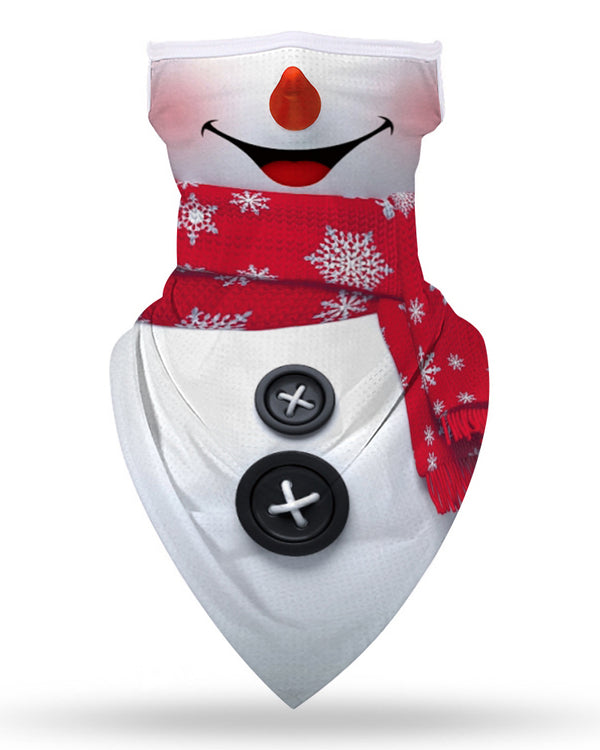 Christmas Print Breathable Ear Loop Face Cover