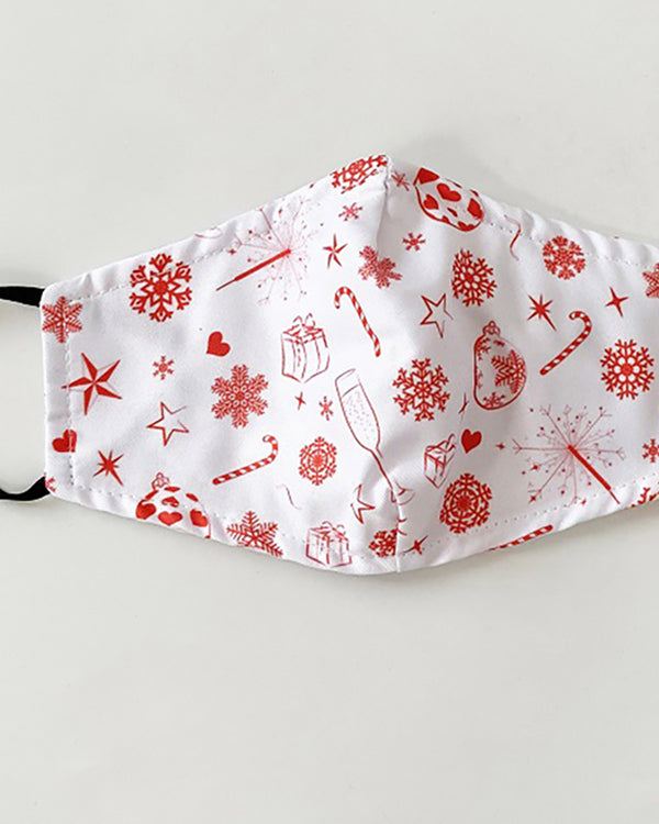 Christmas Print Valve PM 2.5 Face Mask With Filter For Adult
