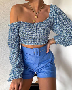 One Shoulder Asymmetrical Crop Top