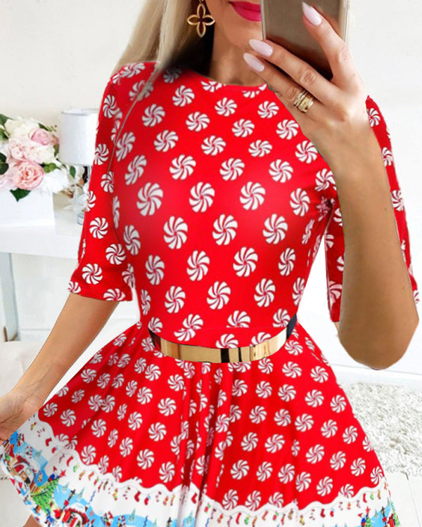 Christmas All Over Print  Dress