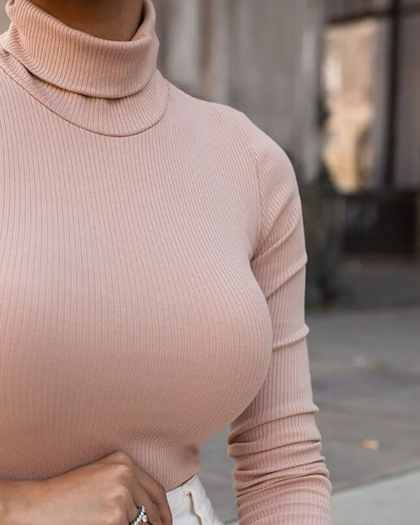 Plain Long Sleeve Basic Sweater