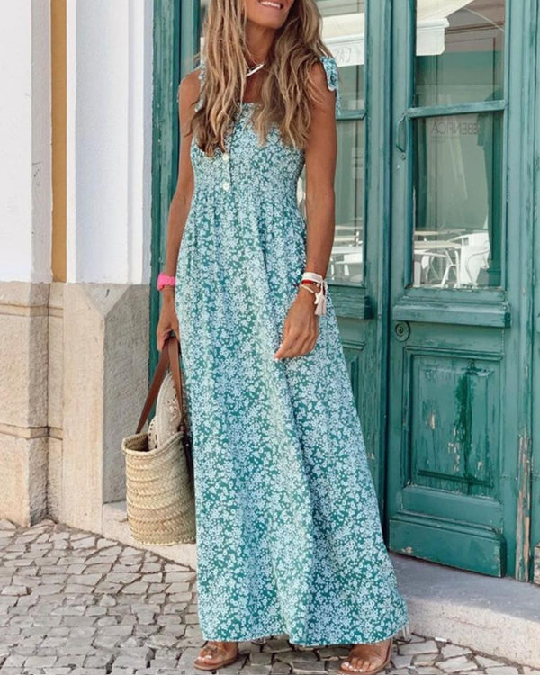 Floral Print Casual Maxi Dress