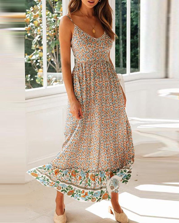 Floral Smocked Waist Cami Dress