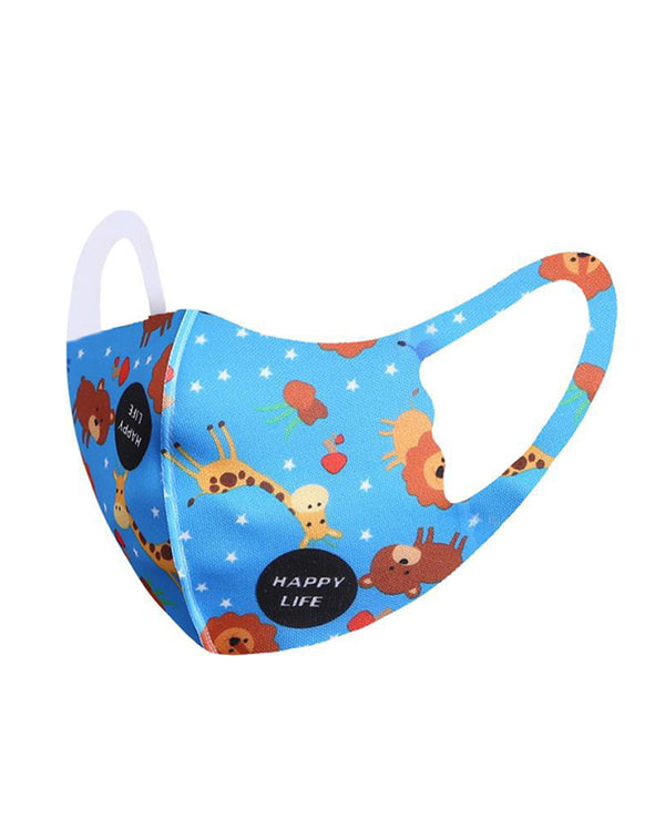 Cartoon Print Washable Face Mask For Kids