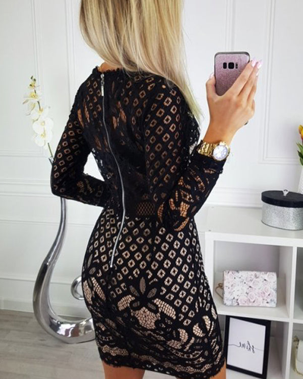 Lace Detail Bodycon Mini Dress