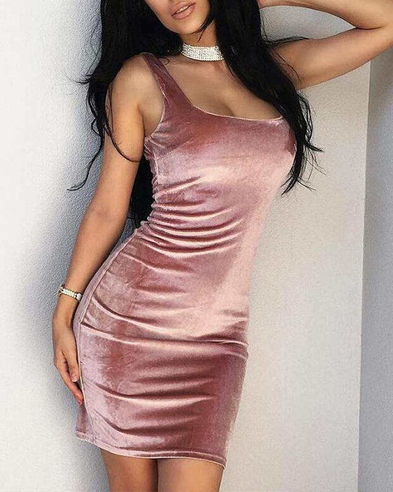 Sexy Bodycon Velvet Mini Dress