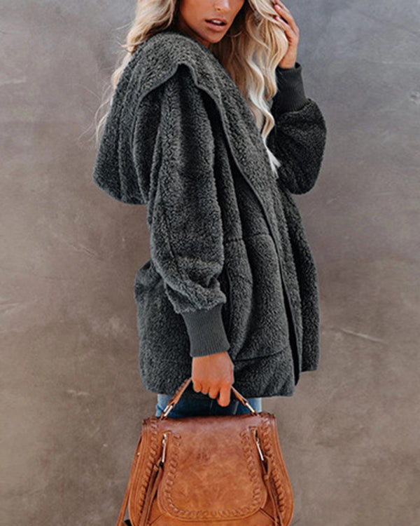 Faux Shearling Shaggy Oversized Teddy Coats