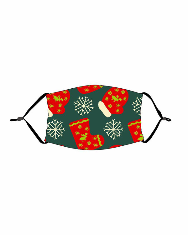 Christmas Print PM 2.5 Face Mask For Kids