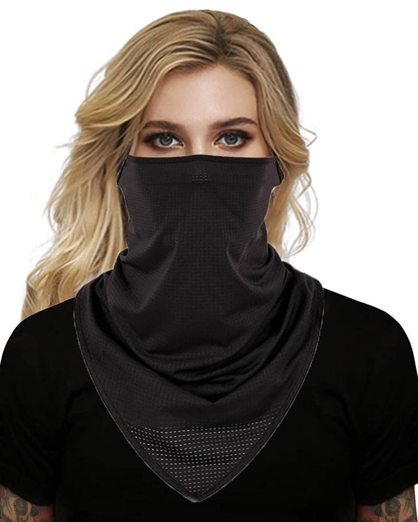 Solid Breathable Face Cover Windproof Motorcycling Dust Outdoors