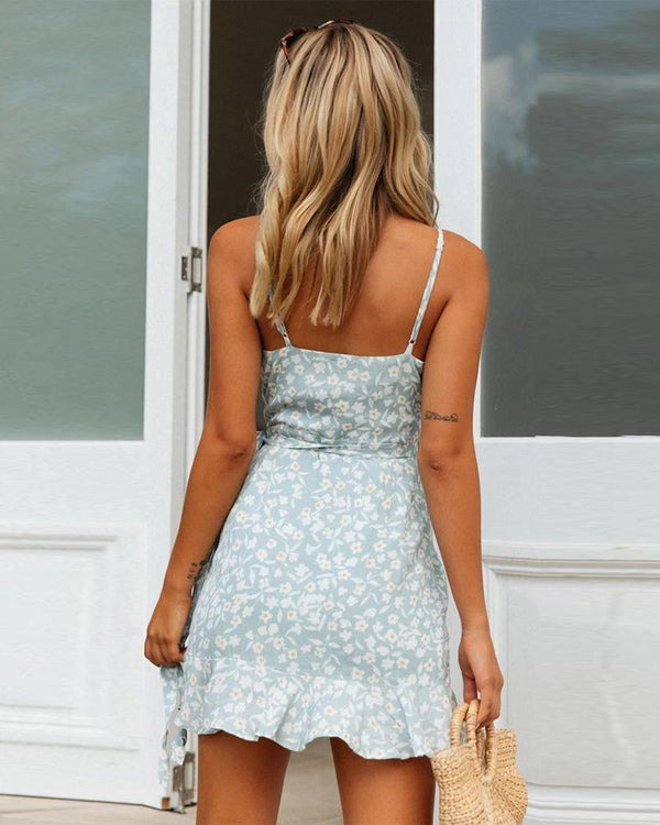 Floral V Neck Cami Dress