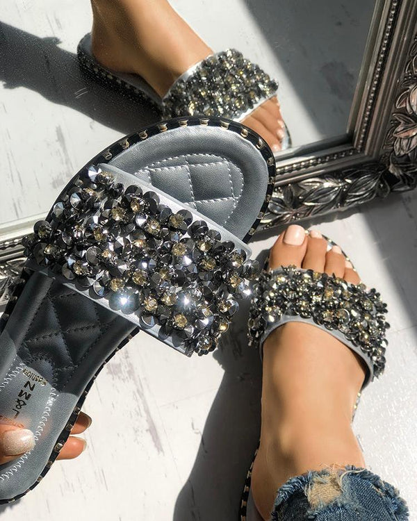 Sequins Shiny Peep Toe Antiskid Sandals