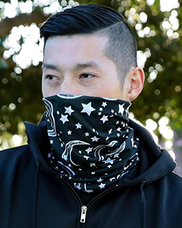 Astro & Moon Print Breathable Face Bandana Magic Scarf Headwrap Balaclava
