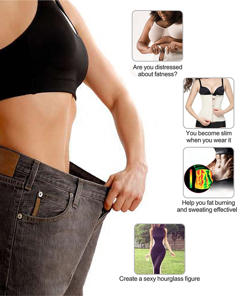 Zipper Waist Trainer Corset Neoprene Sweat Belt Tummy Slimming Breathable Modeling Strap Shaper