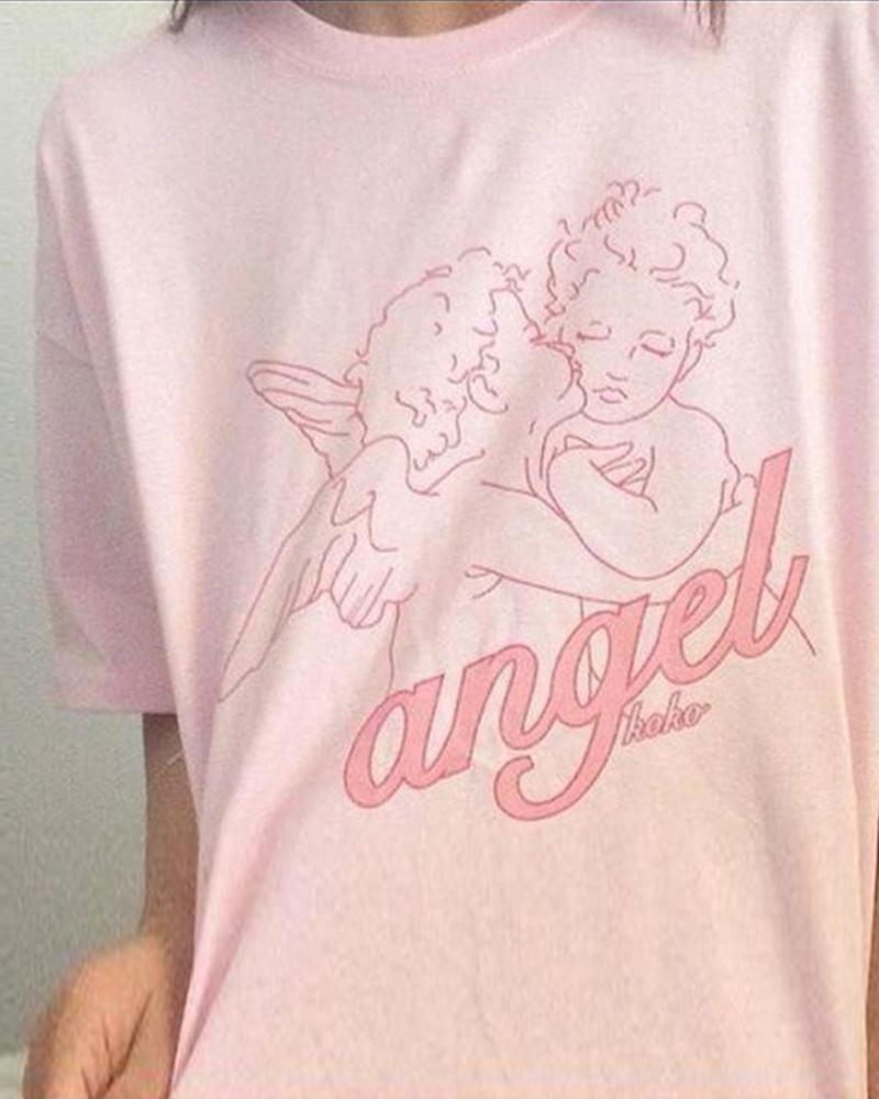 Cute Angels Loose Fit T-Shirt
