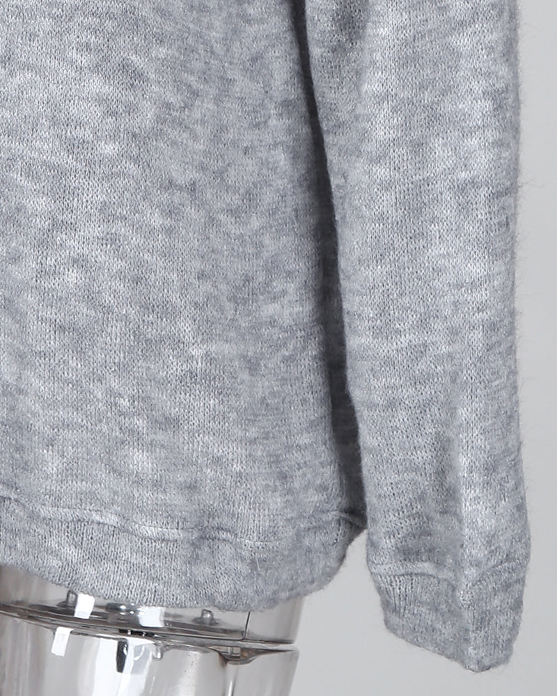 Oversized Round Neck Knitted Pullover