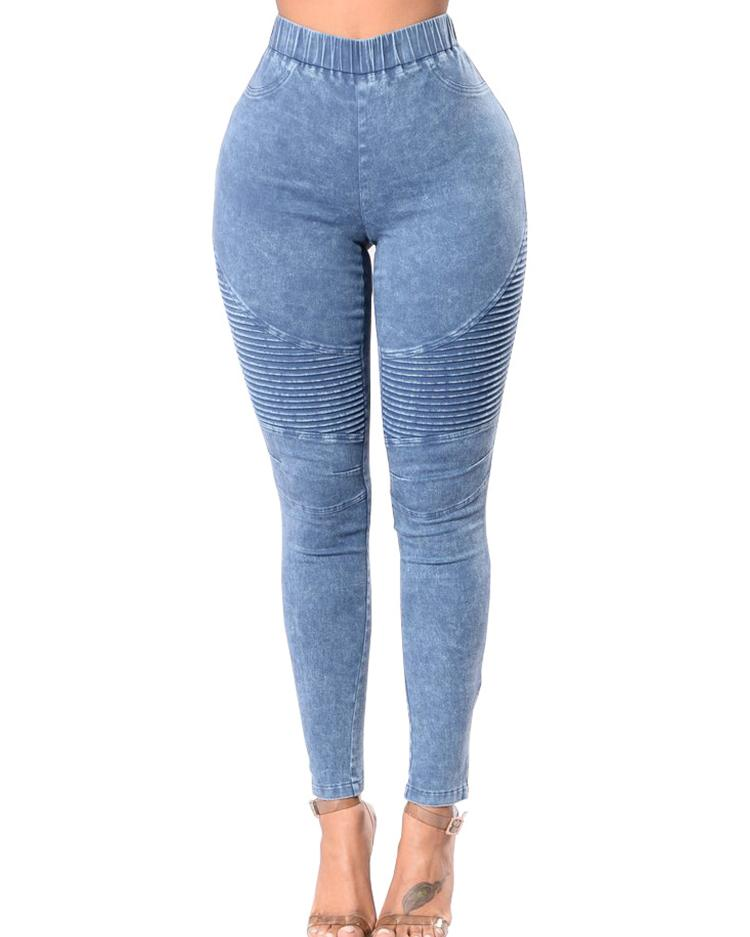 Oversize High Waist Skinny Jeans