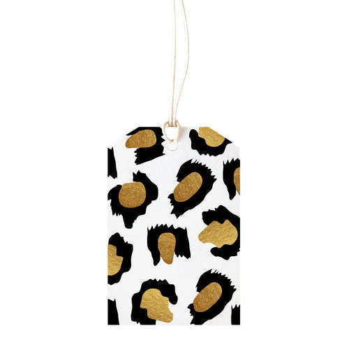 Leopard Gold Gift Tag