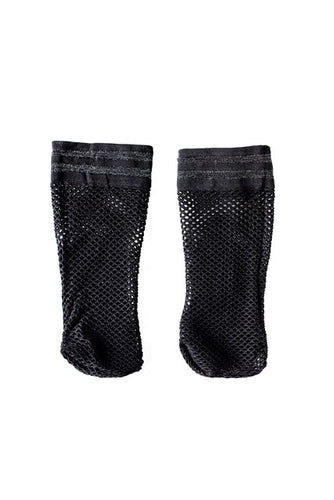 Net Sock Black Silver Trim