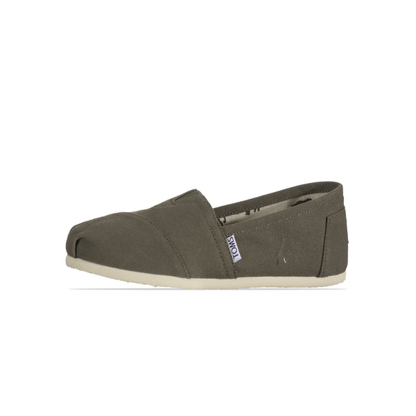 Toms Womens Canvas Dark Green Classic Shoes