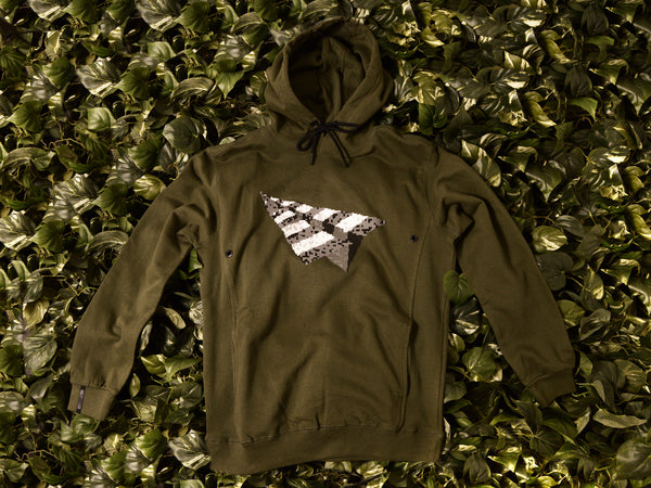 Men's Paper Planes 'Digital' Hoodie [0917K202-WMOSS]
