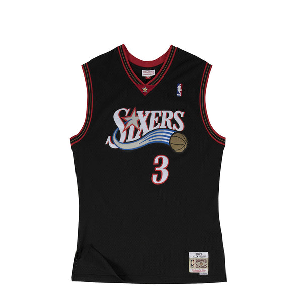 "Mitchell & Ness Mens NBA Philadelphia 76ers ""Allen Iverson"" Road Swingman Jersey"