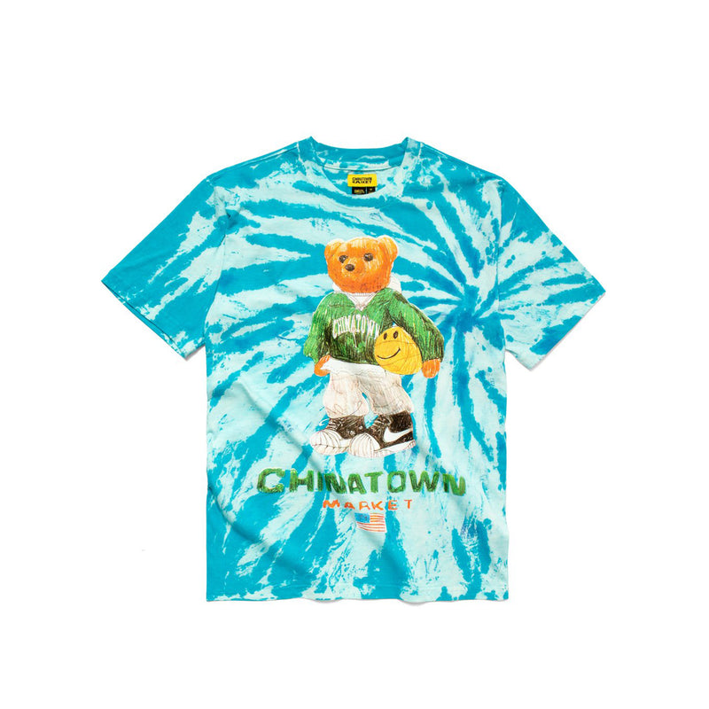 Chinatown Market Mens Smiley Sketch Basketball Bear Tee