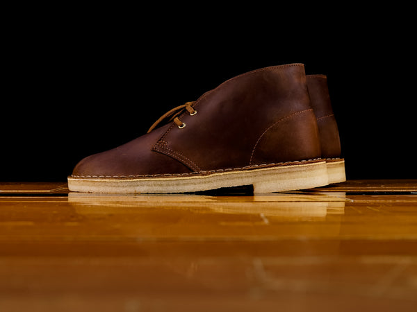 Men's Clarks Desert Boot Brown Beeswax Leather [261-38221]