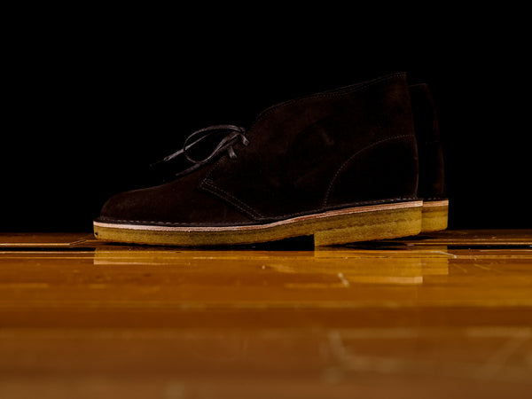Men's Clarks Desert Boot Brown Suede [261-28538]