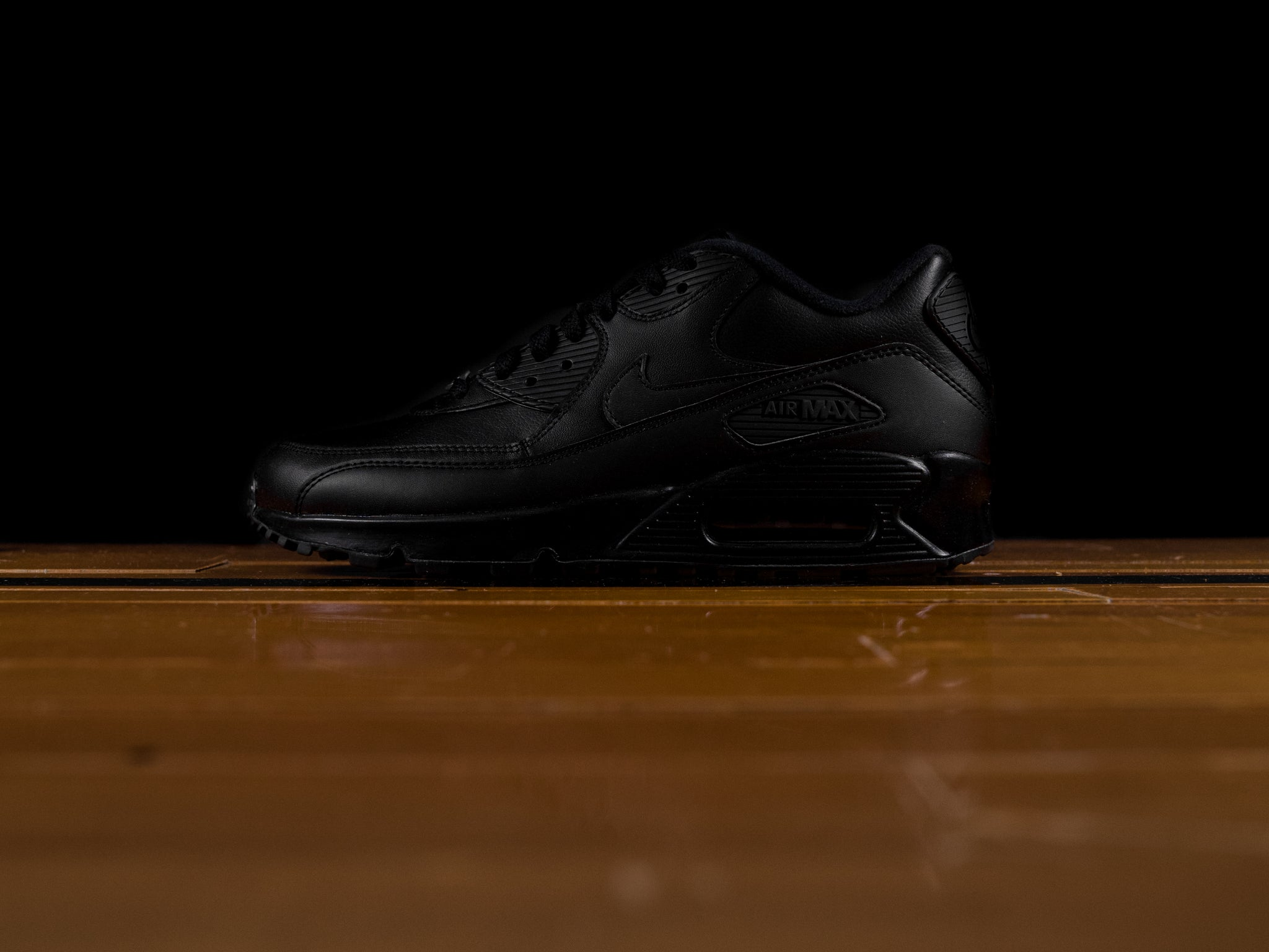 3bb8a8475a1e Men s Nike Air Max 90 Leather  Triple Black