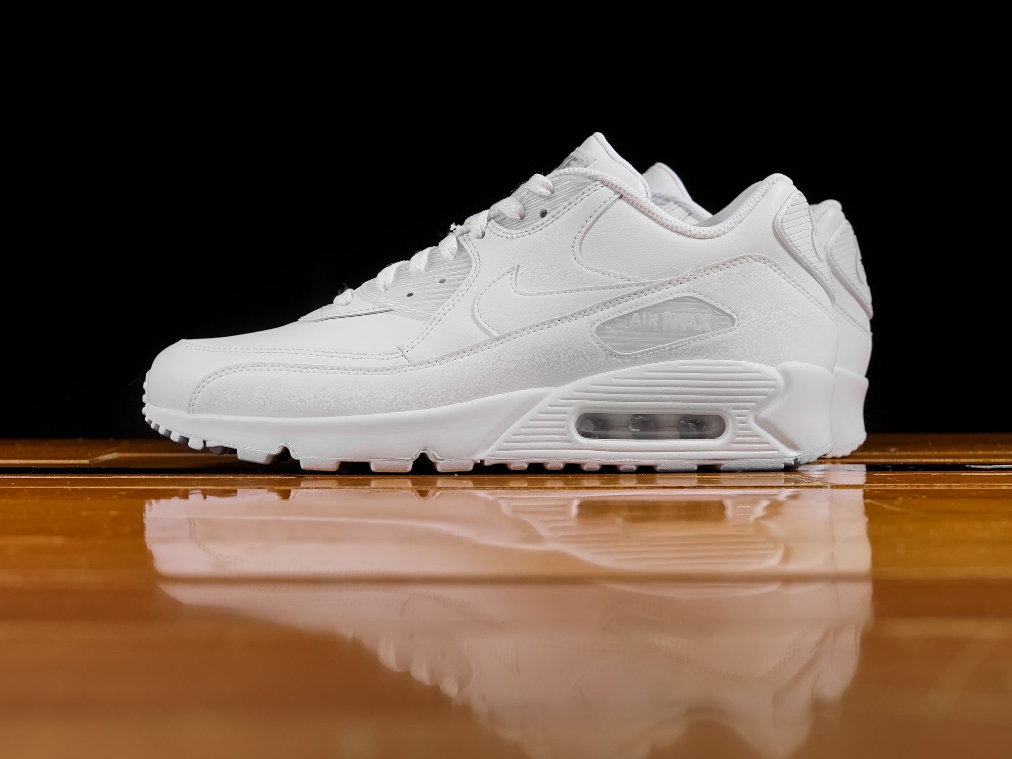 best sneakers 41a4e c7cd8 Men s Nike Air Max 90 Leather  Triple White    302519-113   Renarts