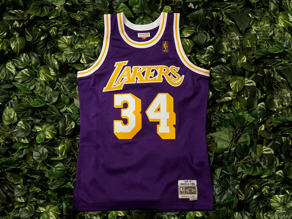 Mitchell & Ness Lakers Swingman Jersey 'Shaq' [353JA3293FGYA40]