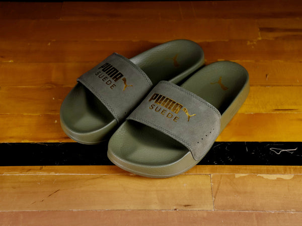 Women's Puma Leadcat Suede Slide [367085-03]