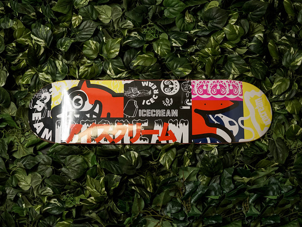 ICECREAM Patchwork Skate Deck [401-1802-BLK]