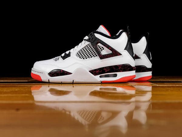 Kid's Air Jordan 4 Retro GS 'Bright Crimson' [408452-116]