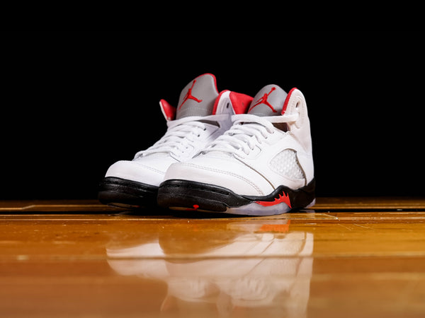 Air Jordan 5 Little Kids Retro PS Fire Red Shoes