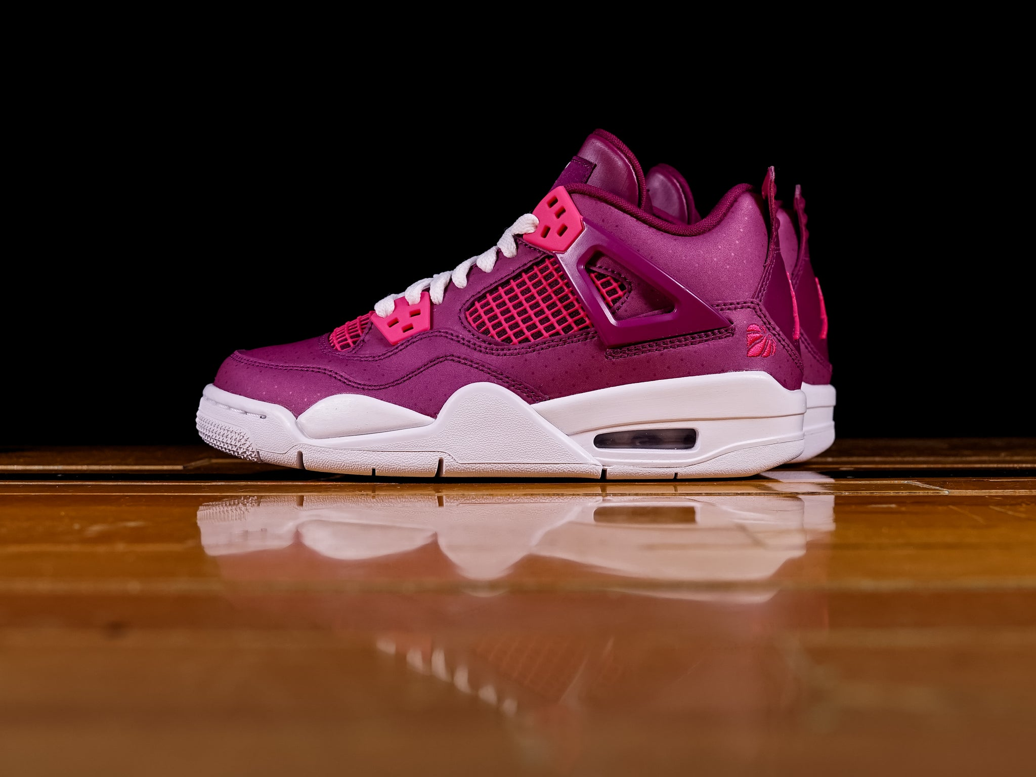 super popular 98b64 3eade Kid's Air Jordan Retro 4 'Valentine's Day' (GS) [487724-661]