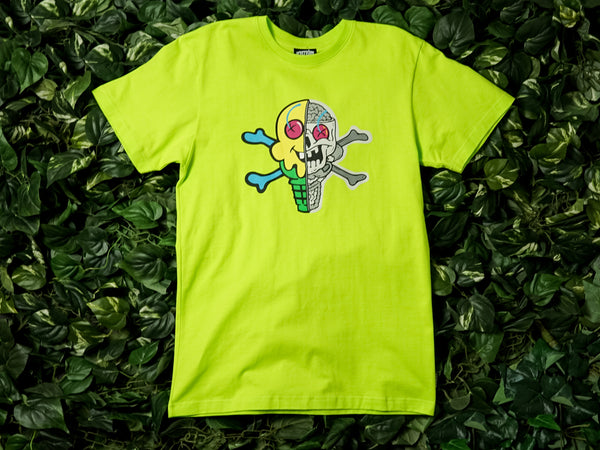 Men's ICECREAM Skull SS Tee [491-2207-ACID]