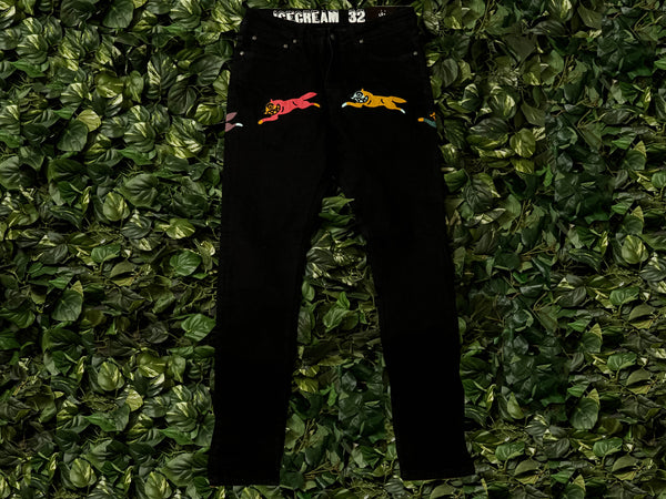 Men's ICECREAM Leap Frog Jeans [491-6106-BLK]