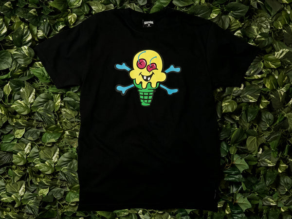 Men's ICECREAM Cones and Bones S/S Tee [491-7200-BLK]
