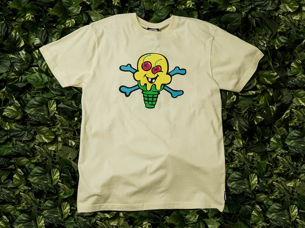 ICECREAM Cones and Bones S/S Tee [491-7200-WHT]