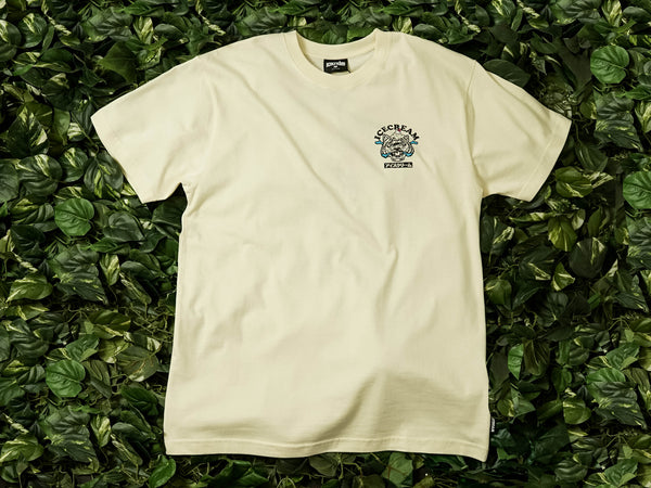 Men's ICECREAM Tiger S/S Tee [491-7205-WHT]
