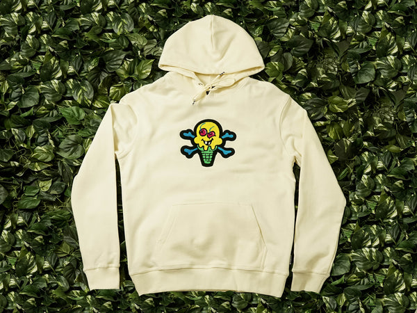 Men's ICECREAM Chenille Hoodie [491-7301-WHT]