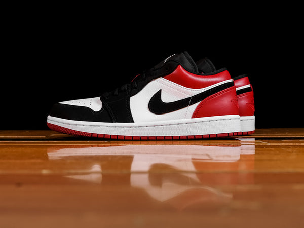 Men's Air Jordan 1 Low 'Black Toe' [553558-116]