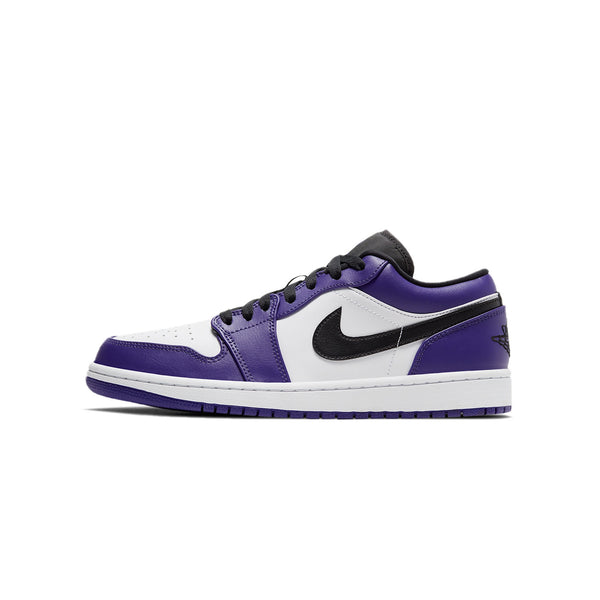 Air Jordan Mens 1 Low 'Court Purple' Shoes